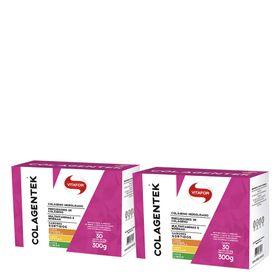 vitafor-kit-2x-colagentek-abacaxi-limao-laranja-acerola-30-saches-10g-loja-projeto-verao