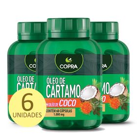 copra-kit-6x-oleo-cartamo-coco-60caps-loja-projeto-verao