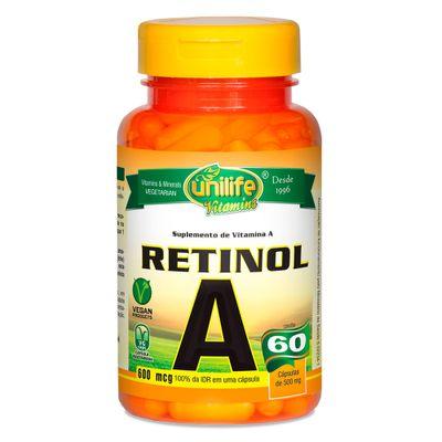 unilife-vitaminaA-retinol-500mg-60-capsulas-vegetarianas-vegan-loja-projeto-verao