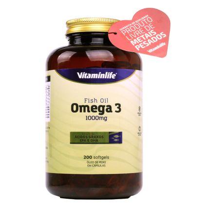 dfbaa0fe5 Ômega 3 - Óleo de Peixe (1000mg) 200 Softgels - Vitaminlife ...