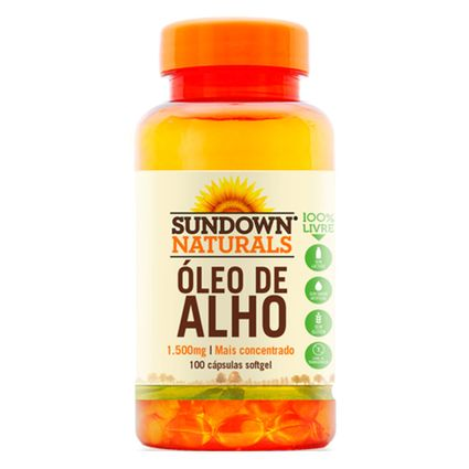 fe880f431 Óleo de Alho - Garlic Oil (1500mg) 100 Cápsulas - Sundown - Projeto ...