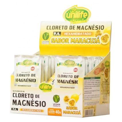 9b1067f58 Cloreto de Magnésio Sabor Maracujá 20 sachês de 40g cada - Unilife ...