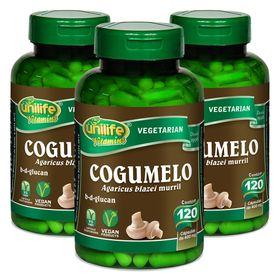 unilife-kit3x-cogumelo-agaricus-blazei-murril-120-capsulas-vegetarianas-loja-projeto-verao