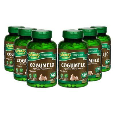 unilife-kit6x-cogumelo-agaricus-blazei-murril-120-capsulas-vegetarianas-loja-projeto-verao