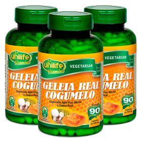 unilife-kit3x-geleia-real-cogumelo-780mg-90-capsulas-vegetarianas-loja-projeto-verao-