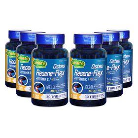 unilife-kit-6x-regene-flex-vitaminaC-colageno-tipoII-tipo2-tipo-2-II-40mg-RDI--1000mg-30-tabletes-comprimidos-loja-projeto-verao