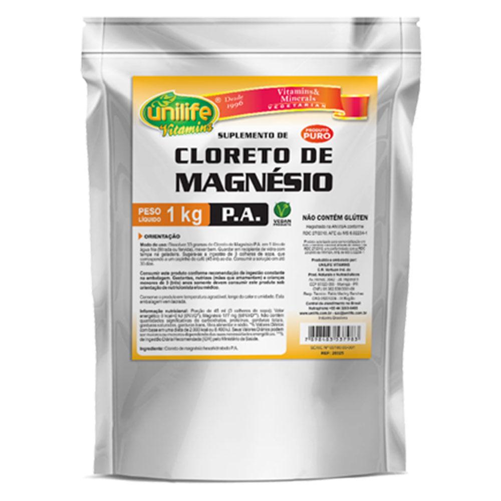 cfb1981ab Cloreto de Magnésio P.A em pó 1kg - Unilife - Projeto Verao