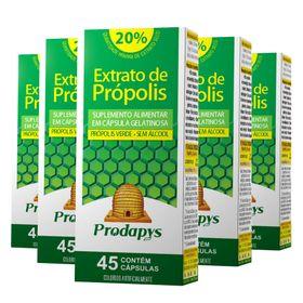 prodapys-kit-5x-extrato-propolis-verde-sem-alcool-20-extrato-seco-50mg-45-capsulas-loja-projeto-verao