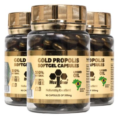 wax-green-kit-3x-gold-propolis-linseed-oil-87-extrato-seco-500mg-90-capsulas-loja-projeto-verao