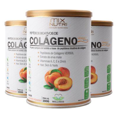 mix-nutri-kit-3x-colageno-verisol-peptideos-bioativos-sabor-cha-mate-pessego-300g-loja-projeto-verao