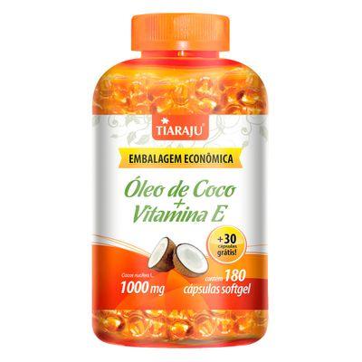 tiaraju-oleo-coco-vitamina-e-evitamin-1000mg-180-capsulas-softgel-30-gratis-loja-projeto-verao