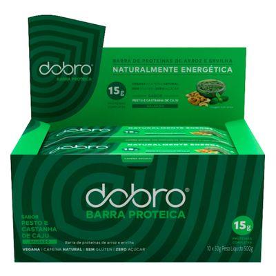 dobro-caixa-10x-barra-proteica-sabor-pesto-e-castanha-de-caju-vegana-50g-loja-projeto-verao