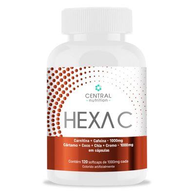 central-nutrition-hexac-carnitina-cafeina-cartamo-coco-chia-cromo-1000mg-120-capsulas-loja-projeto-verao