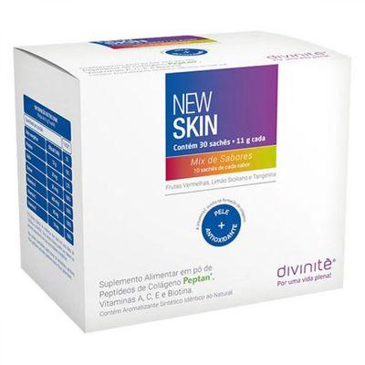 divinite-colageno-new-skin-sabor-mix-de-sabores-30-saches-11g-cada-loja-projeto-verao