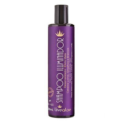 livealoe-shampoo-iluminador-desamarelador-efeito-mate-cabelos-loiros-grisalhos-brancos-aloe-vera-andiroba-noni-oleos-essenciais-alecrim-laranja-lemongrass-limao-300ml-loja-projeto-verao