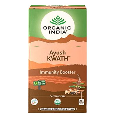 organic-india-cha-tulsi-ayush-kwath-immunity-booster-imunidade-25-saches-loja-projeto-verao
