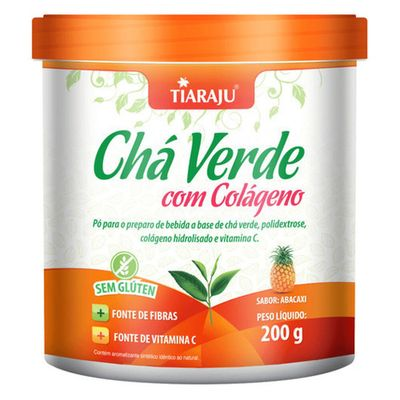tiaraju-cha-verde-com-colageno-hidrolisado-vitamina-c-sabor-abacaxi-200g-loja-projeto-verao