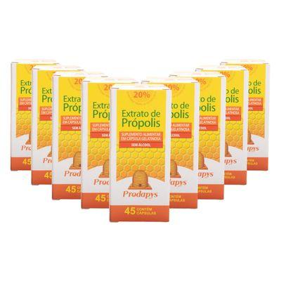 prodapys-9x-extrato-de-propolis-marrom-sem-alcool-20-extrato-seco45-capsulas-loja-projeto-verao