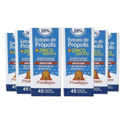 prodapys-6x-extrato-propolis-zinco-quelato-sem-alcool-20-extrato-seco-45-capsulas-loja-projeto-verao